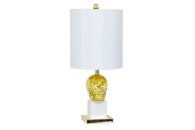Golden Skull Table Lamp