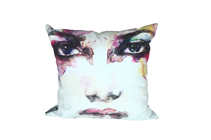 Wet Painted Face Pillow