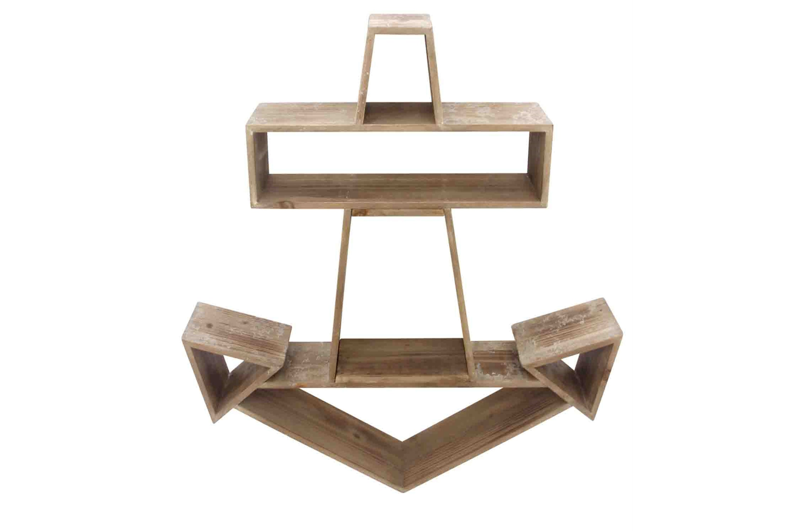 Wooden anchor wall shelf by sagebrook home dizzy rock furniture anchor wall shelf amipublicfo Choice Image