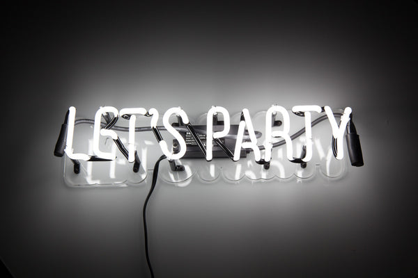 Let's Party Neon Wall Light