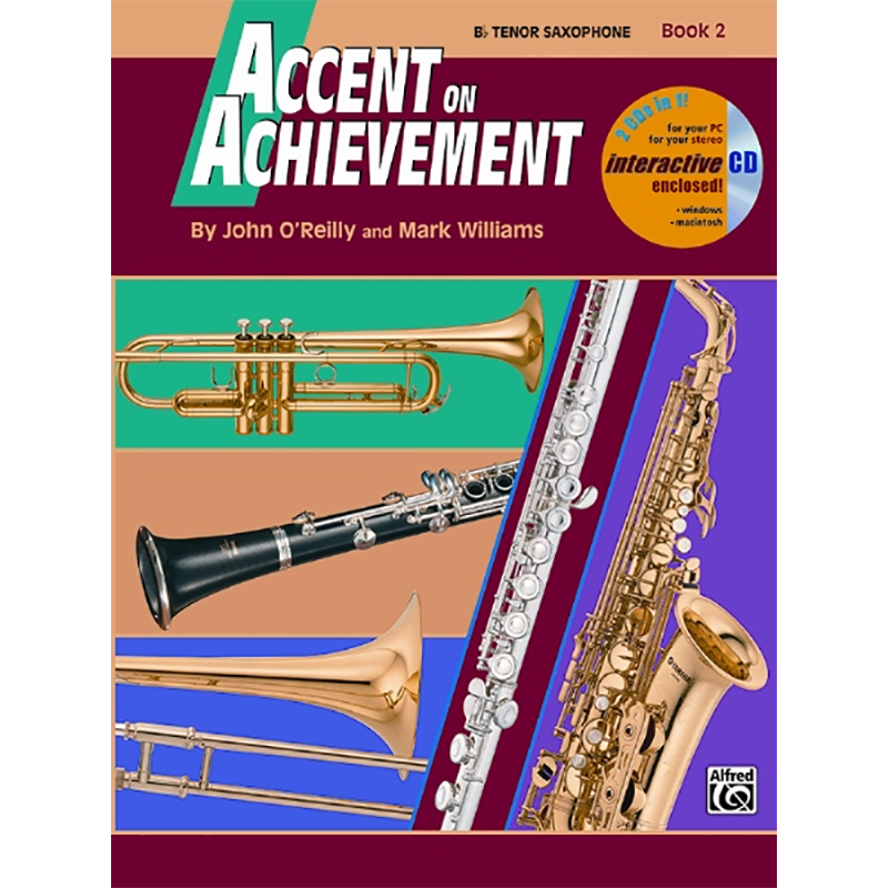 Accent On Achievement: Tenor Saxophone Book 2