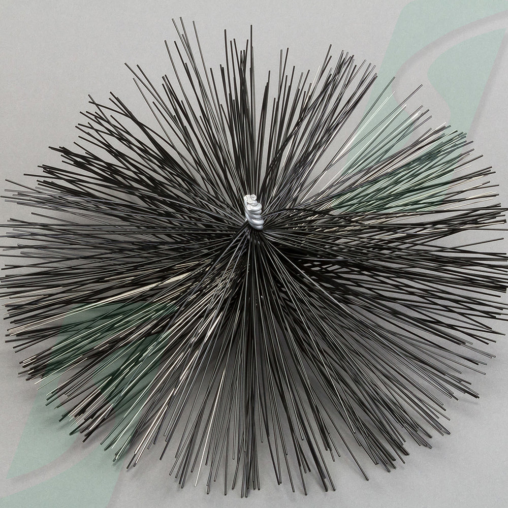 Nylon/ Steel Round Brush for severe pollution