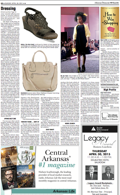 RM Elizabeth tote featured in the Arkansas Gazette