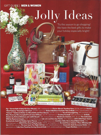 Robert Matthew's Charlotte Tote Graces the Celebrate Magazine Gift Guide