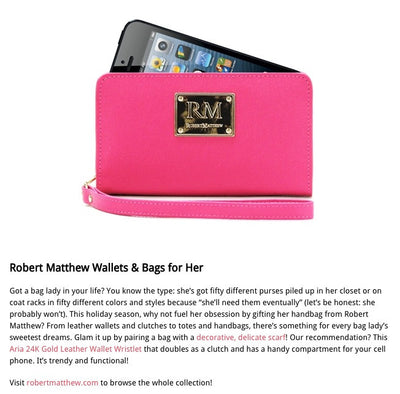 Cliche magazine Features the Robert Matthew Aria Clutch
