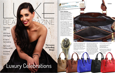 Robert Matthew's Latest Fashions Featured in Luxe Beat Magazine