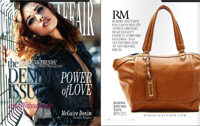 Robert Matthew Fashions Featured in Fashion Affair Magazine
