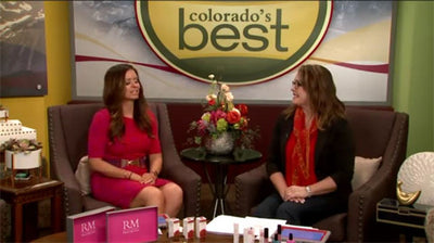 Sofia 24K Gold Leather Shoulder Clutch Featured on FOX31 Colorado's Best!