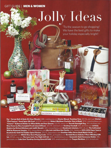 Read celebrate magazine news feature of the best gift ideas and featuring Robert Matthew handbags and purses.