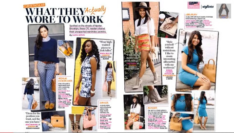 cosmopolitan magazine news feature of the Robert Matthew handbags and hannah tote.