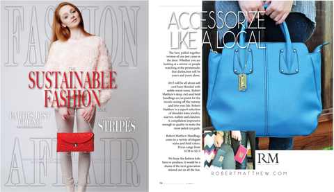 Fashion affair magazine news feature of the Robert Matthew elizabeth tote and purses.