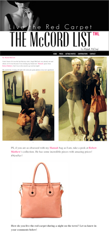 Read the latest McCord List news and features of Robert Matthew handbags and fashion accessories.