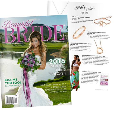 Beautiful Bride Magazine news featuring Robert Matthew Handbags and fashion.
