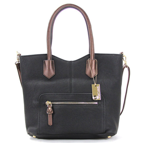 Robert Matthew Heidi Tote - Black - Robert Matthew Handbags and Fashion