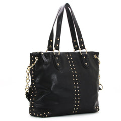 Robert Matthew Peyton Satchel Tote - Black - Robert Matthew  - 2