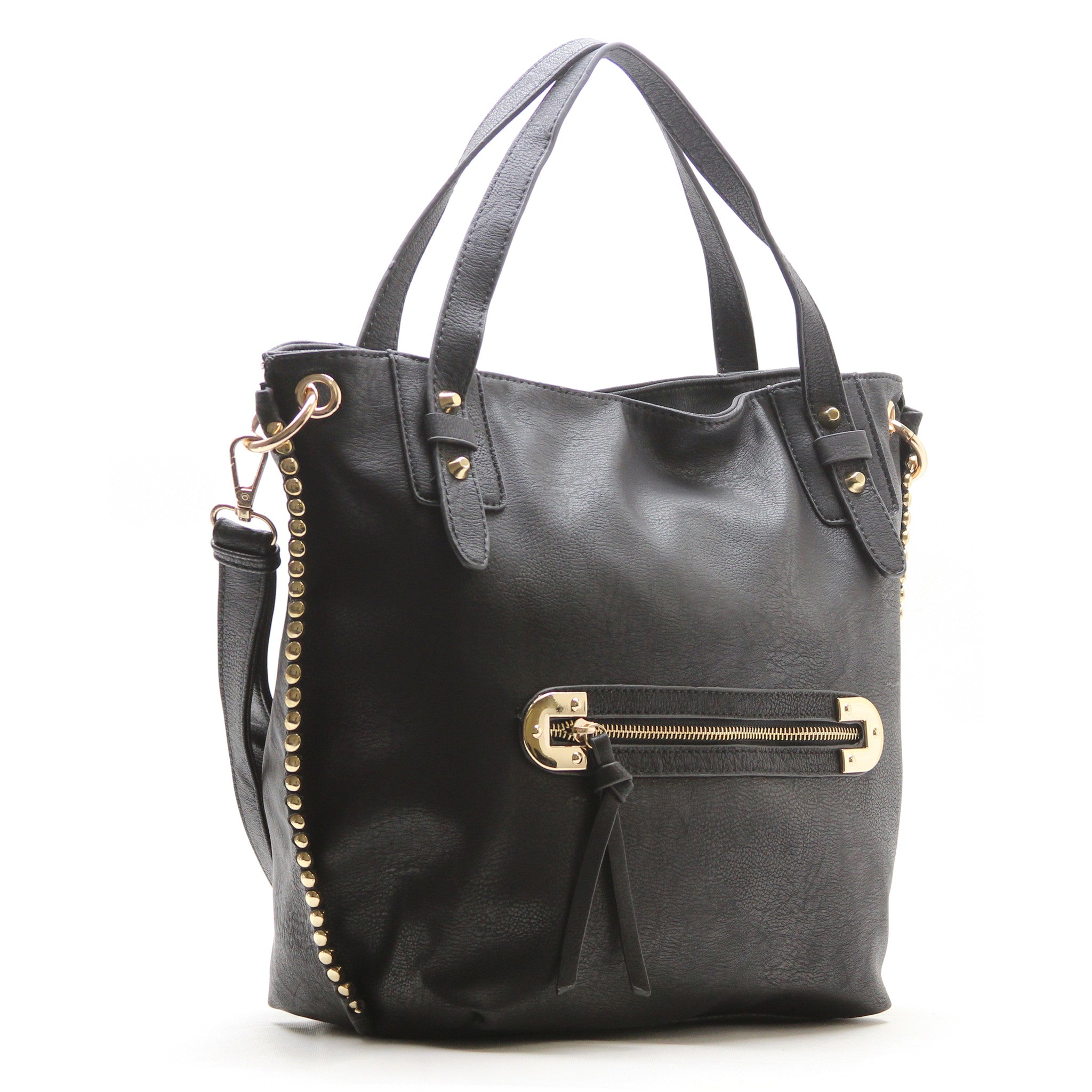 Robert Matthew Mila Shoulder Tote   Black