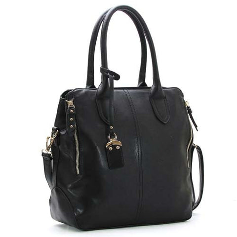 Robert Matthew Sophie Shoulder Tote - Black - Robert Matthew Handbags and Fashion