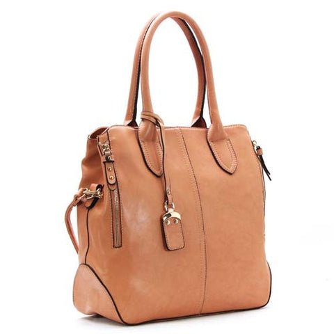 Robert Matthew Sophie Shoulder Tote - Peach - Robert Matthew Handbags and Fashion