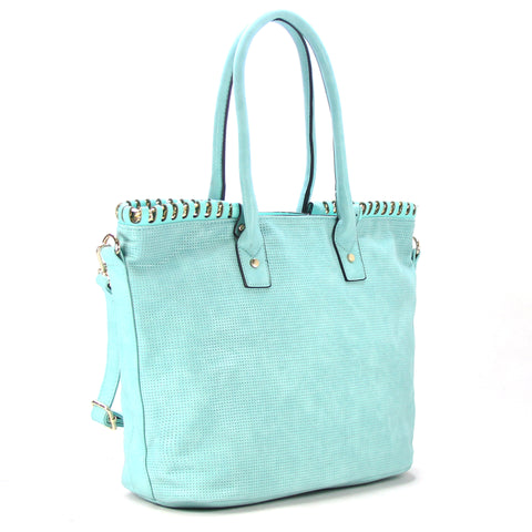 Robert Matthew Penelope Tote - Light Turquoise