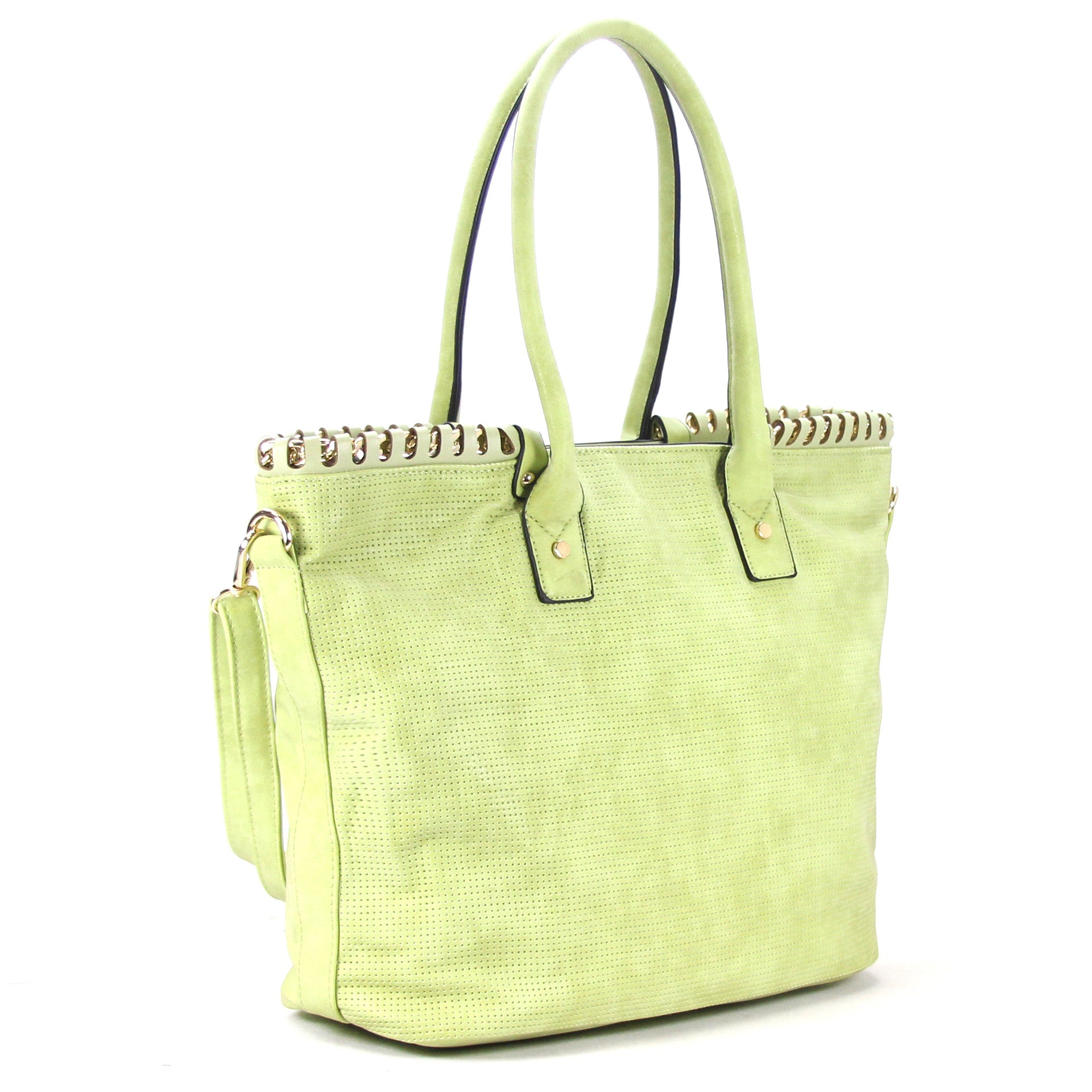 Robert Matthew Penelope Tote   Light Sage