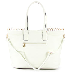 Robert Matthew Penelope Tote - White - Robert Matthew Handbags and Fashion