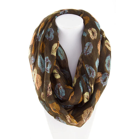 Robert Matthew Amanda Lip Pop Infinity Scarf - Dark Brown