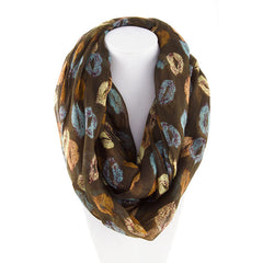 Robert Matthew Amanda Lip Pop Infinity Scarf - Army Green - Robert Matthew Handbags and Fashion