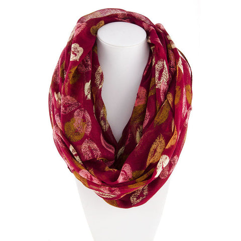 Robert Matthew Amanda Lip Pop Infinity Scarf - Red