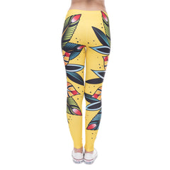 Robert Matthew Wild Flower Print Leggings