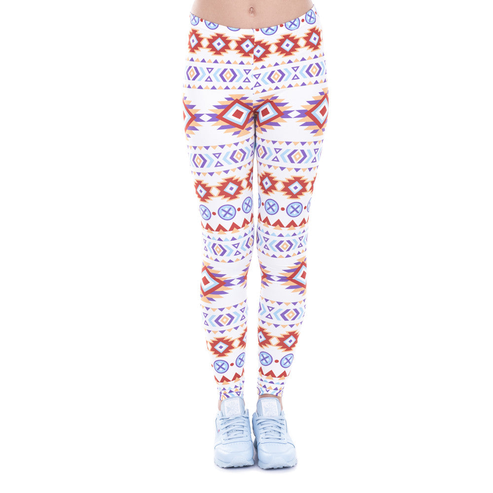 Robert Matthew Indian Aztec Print Leggings
