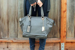 Robert Matthew Alayna Satchel Tote - Slate Grey - Robert Matthew  - 3