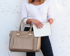 Robert Matthew Paige Tote - Latte - Robert Matthew  - 3