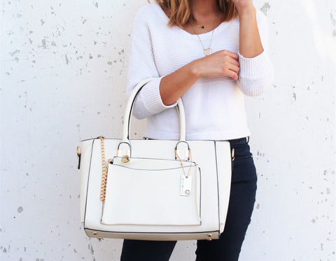 Robert Matthew Paige Tote - Cream