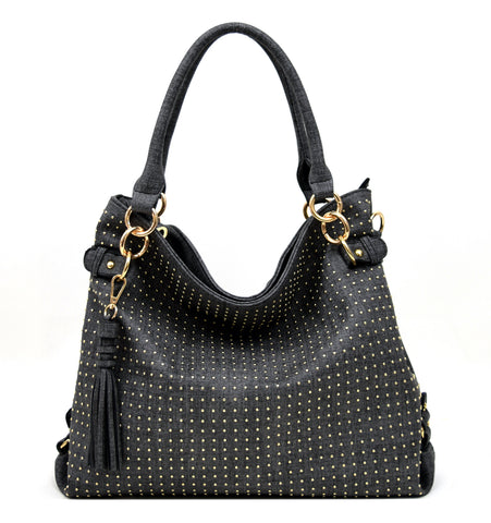 Robert Matthew Rosie Hobo Tote Bag - Black