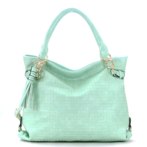 Robert Matthew Rosie Hobo Tote Bag - Mint