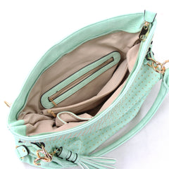 Robert Matthew Rosie Hobo Tote Bag - Mint - Robert Matthew  - 4