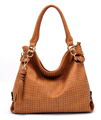Robert Matthew Rosie Hobo Tote Bag - Saddle