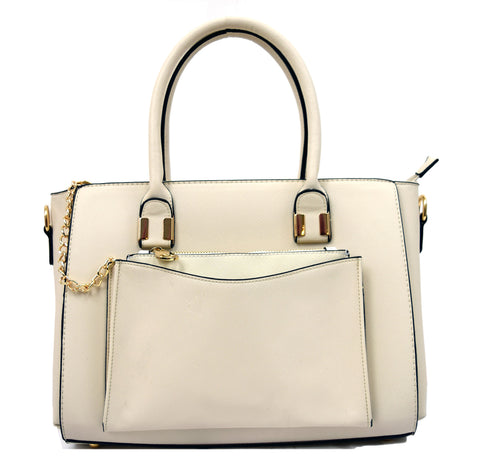 Robert Matthew Paige Tote - Cream - Robert Matthew Handbags and Fashion
