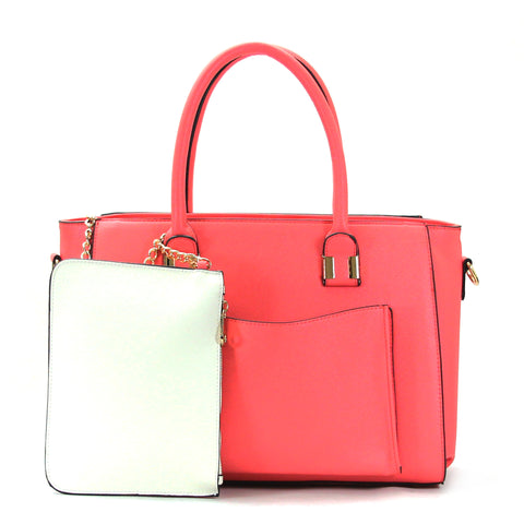 Robert Matthew Paige Tote - Coral
