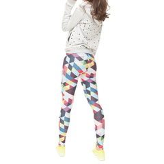 Robert Matthew One Size Print Leggings - Rainbow Triangles