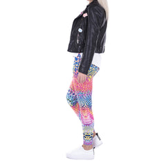 Robert Matthew Rainbow Cheetah Print Leggings