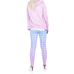 Robert Matthew One Size Print Leggings - Checkered Ombre