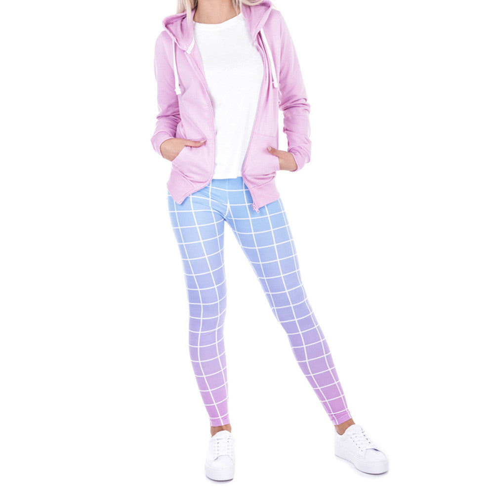 Robert Matthew Checkered Ombre Print Leggings