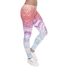 Robert Matthew One Size Print Leggings - Sunrise Mandala Print