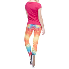 Robert Matthew One Size Print Leggings - Hippie Tie Die