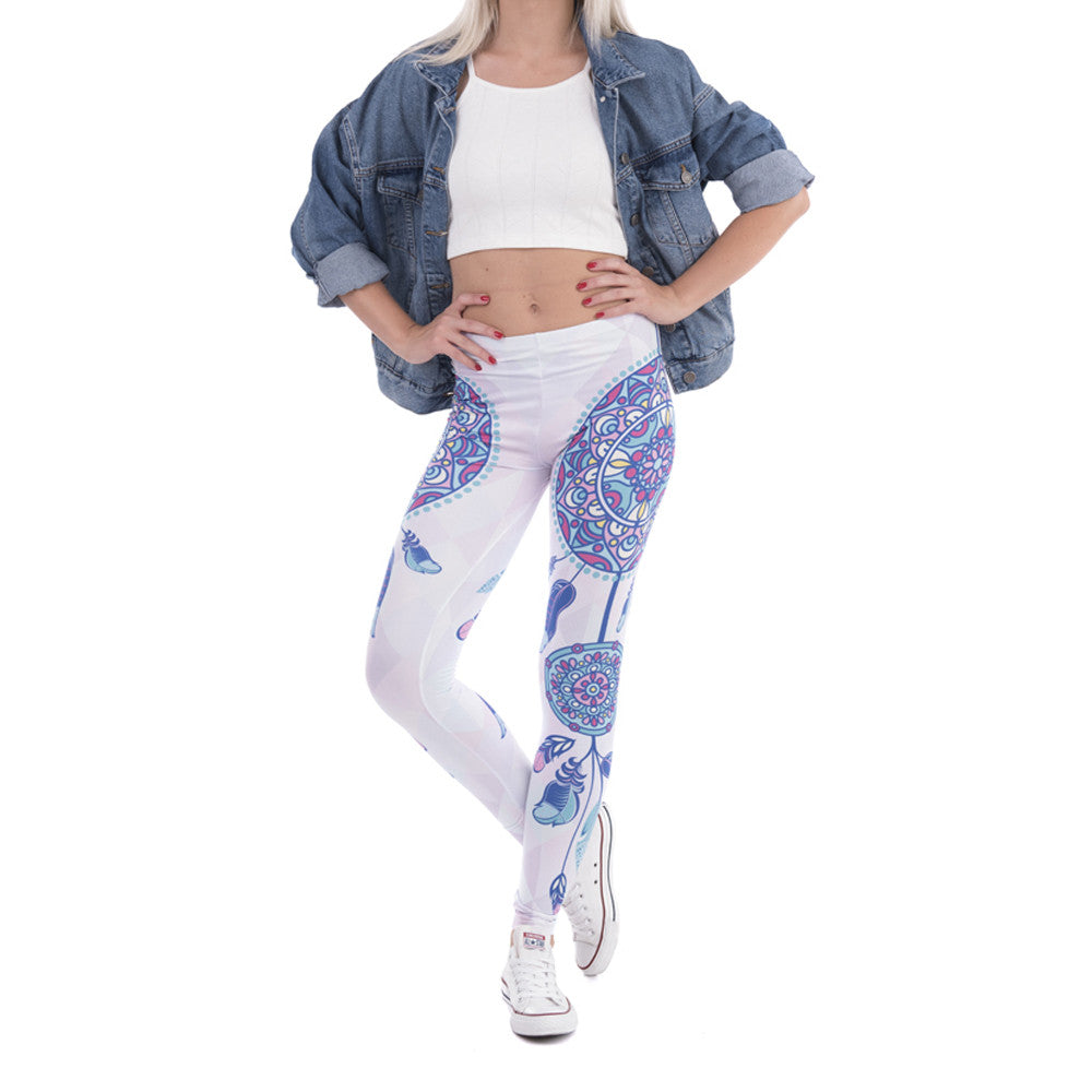 Robert Matthew One Size Print Leggings - Dreamcatcher