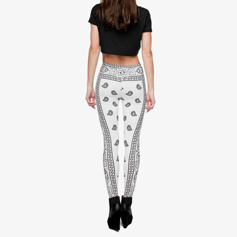 Robert Matthew One Size Print Leggings - Grey Bandana Print