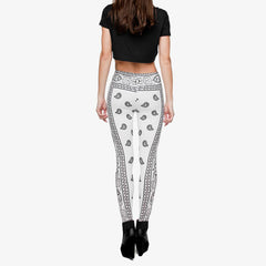 Robert Matthew Grey Bandana Print Leggings