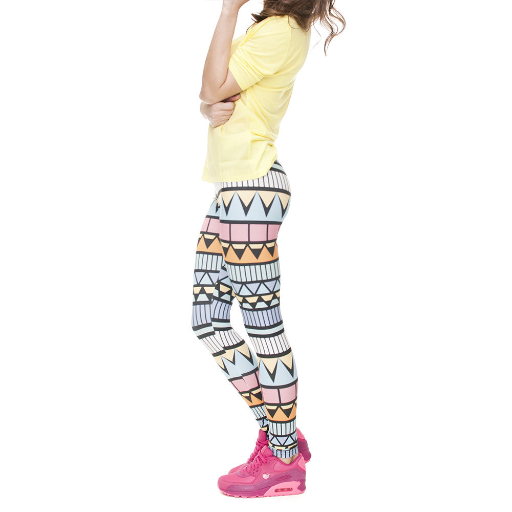 Robert Matthew Geo Tribal Print Leggings