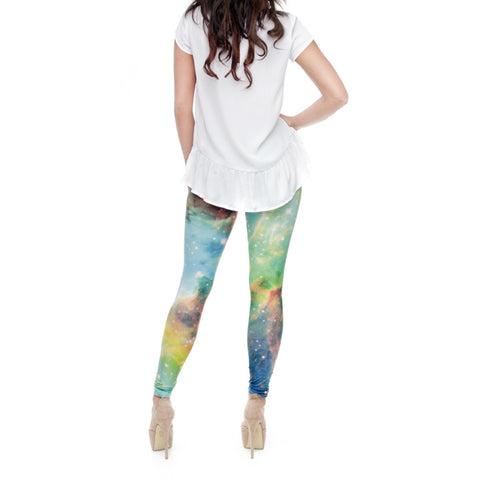 Robert Matthew One Size Print Leggings - Galaxy Stars